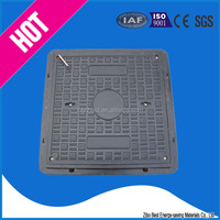 waterproof rubber manhole cover with screw lock