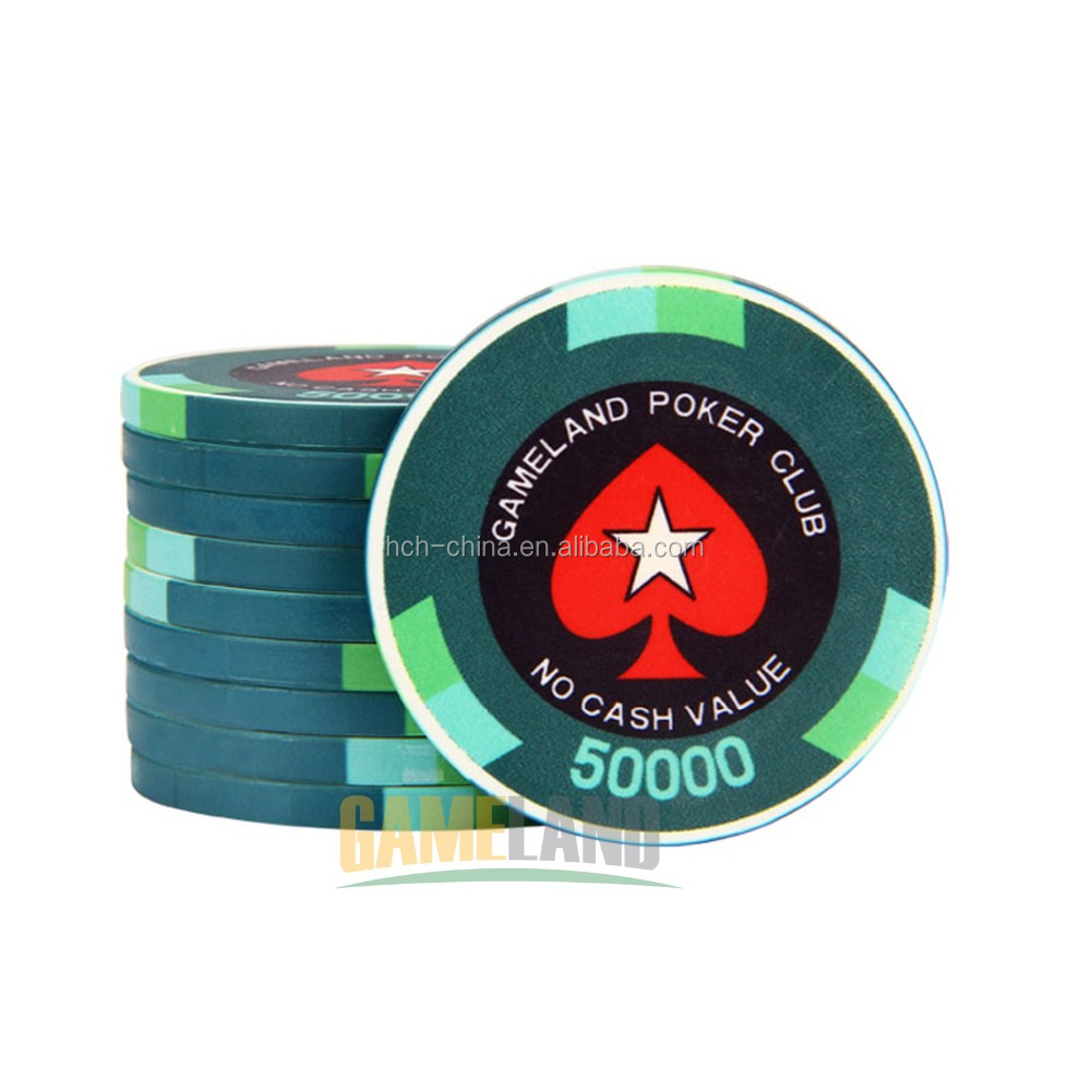 Anti-Impact Material 14g Ept Ceramic Custom Poker Chips