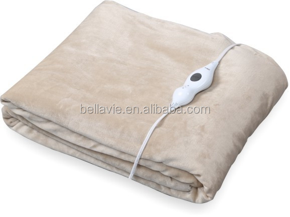 High Quality Electric Blanket 100% Polyester Heated Throws with Timer