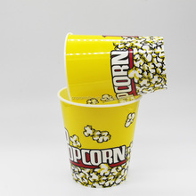 High qulality Reusable Custom printed Plastic 32 OZ Movie Theater Popcorn Bucket with lid Alternative