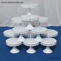New design white metal cake stand elegant birthday cake stand party cake stand(cake-020)