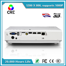 large screen most welcomed high quality low price mini laser 3d projector CRE X2500