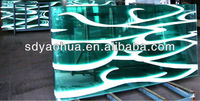 Silk Screen Printing Laminated safety glass for glass wall big panels (ISO9001, AS/NZS 2208, CE EN12150)