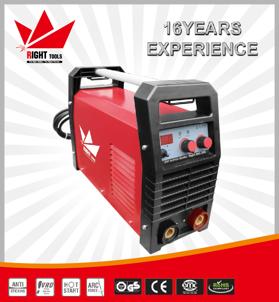 Single phase 230V MMA 200A portable heavy duty arc welding machine