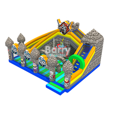 Giant inflatable combo game, bouncy slide