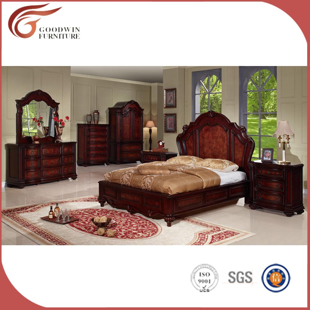 Antiguo conjunto de muebles de dormitorio cl sico muebles de dormitorio con cama de cuero wa143 Muebles de dormitorio antiguos