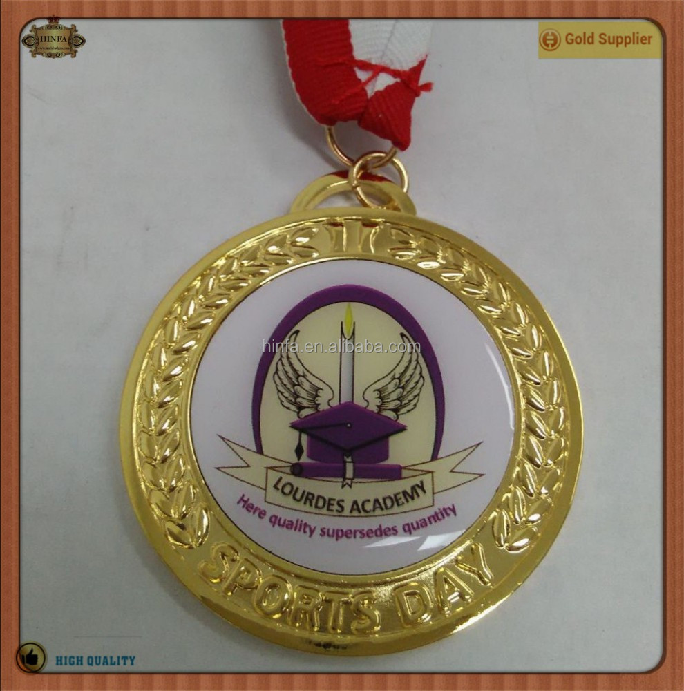 Zinc Alloy School Sports Trophies Printing Medals