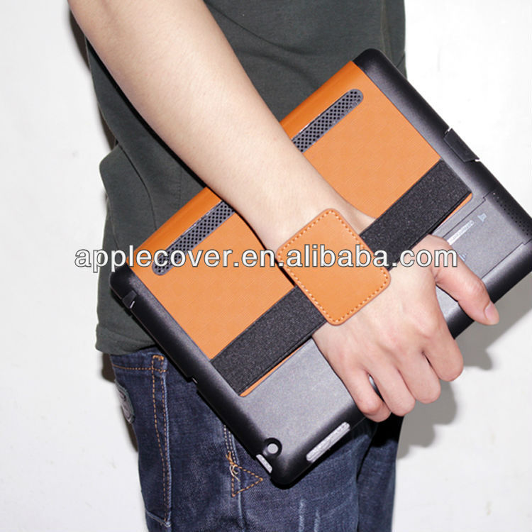 Luxury Leather Case for Apple iPad with Speaker Function