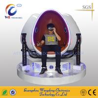 Interactive Virtual Reality Experience 3 Seats 360 Degree Egg VR Cinema Simulator 9D VR - motion simulator chair
