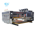 automatic lead edge feeder 3 color printing slotting machine