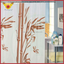 Red Bamboo Design Bath Peva Arabic Latest Luxury Curtain