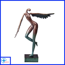 Elegant fairy figurine, resin bronze angel statue for decoration wholesale