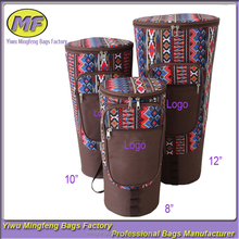 "Wholesale Shockproof Afria Drum Sling Gig Bag With National Stripes, Colorful 12"" Djembe Carrier"