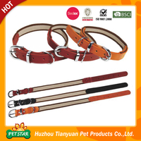 SImple Design Wholesale Soft Padded Leather Dog Collar