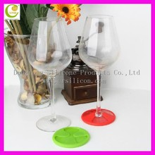 Promotional round shaped excellent houseware wine glass silicone grip coaster