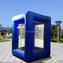 Make Cash Fly 2.7m(8.8ft) advertising Inflatable cash cube inflatable money booth grab machine booth for sale