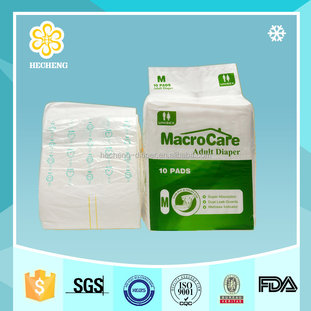 Cheap high quality cotton surface disposable diapers for old people