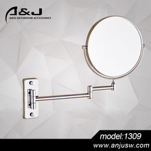 Side Round Durable Brass Bathroom Wall Mounted Cosmetic Mirror Bathroom Accessory Mirror