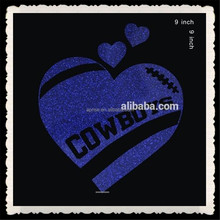 Aprise - Cowboys Dallas Loves Me heart Rhinestone Glitter Heat Transfers