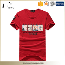 100% cotton plain custom tshirt printing for mens
