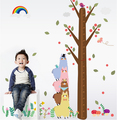 2016 New Removable PVC Wall Stickers Kids Room Decal Kids Height Wall Sticker