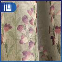 Latest popular custom made embroidery curtain fabric from China factory