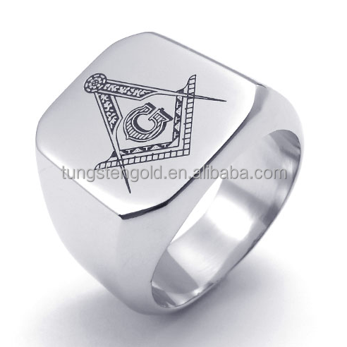 316l mens signet stainless steel masonic ring for sale