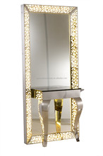 Hot Sale Stainless Steel Mirror Staion With Lights(H102)