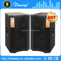 Double 15 inch karaoke speaker with dj mixer