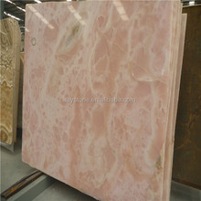 Elegant pink marble dining table