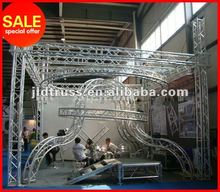 Hot sale 2012 Gold truss aluminum truss trade show booth