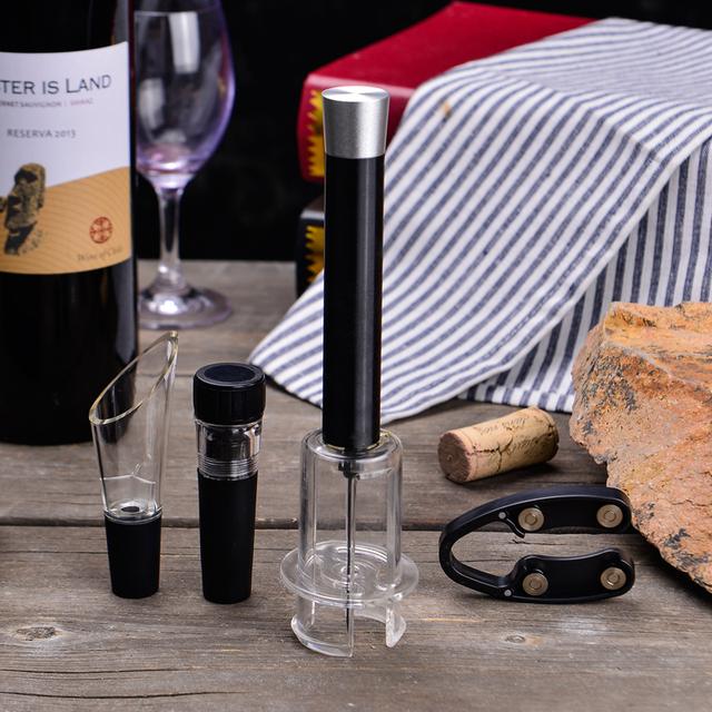 Air Pressure Pump Opener Set Wine Bottle Cork Remover Accessory Tool Kit
