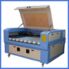 fabric laser cutting machine with auto feeding working video (looking for agent)