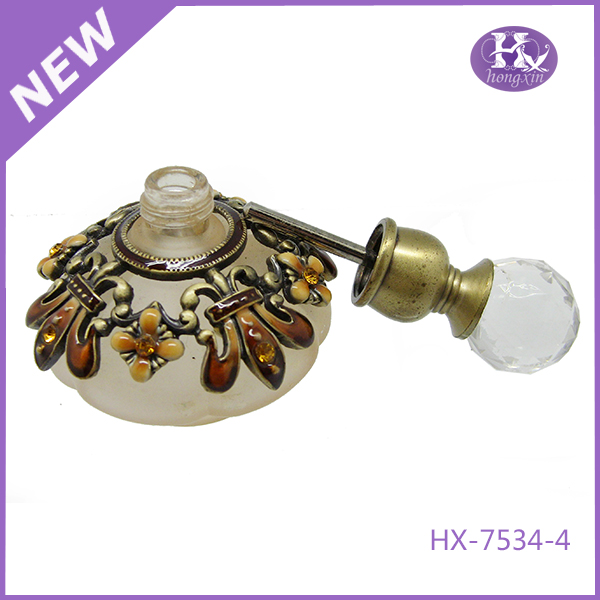 HX-7534-4 Pewter glass nozzle perfume bottle
