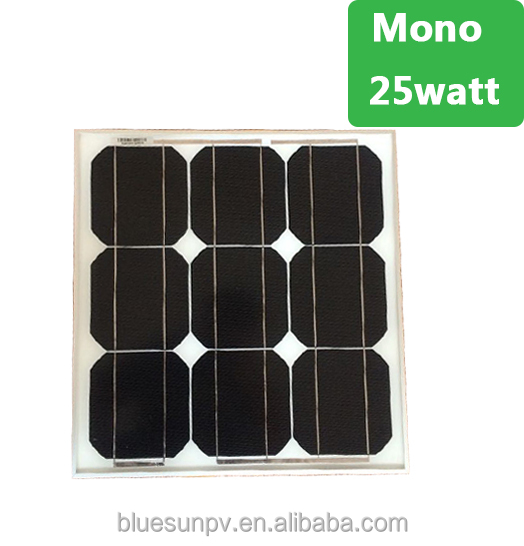 Bluesun best supplier mini 12v 25w mono panel solar for home lighting