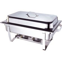 hot sale rectangular full size 9l stainless steel 201 chafing dish for kitchen