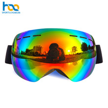 Multi Colors breathable sponge sports googles Anti-scratch Sand proof color blind snowboard glasses for Skiing sport