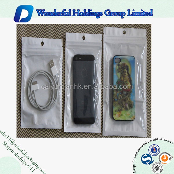 custom printed phone case packing bag plastic packaging cell phone accessories packaging