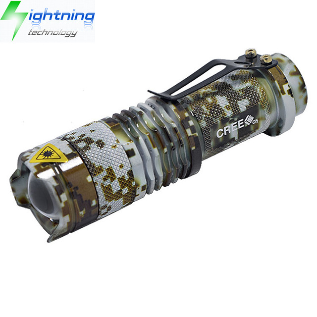 Angle Adjustable Ultrafire SK68 Aluminum Portable Mini 18650 Rechargeable 3W CREE XPE Q5 LED Military Flashlight Tactical