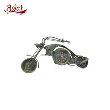Dark green motorcycle do old retro design cheap table clock ladies gift items