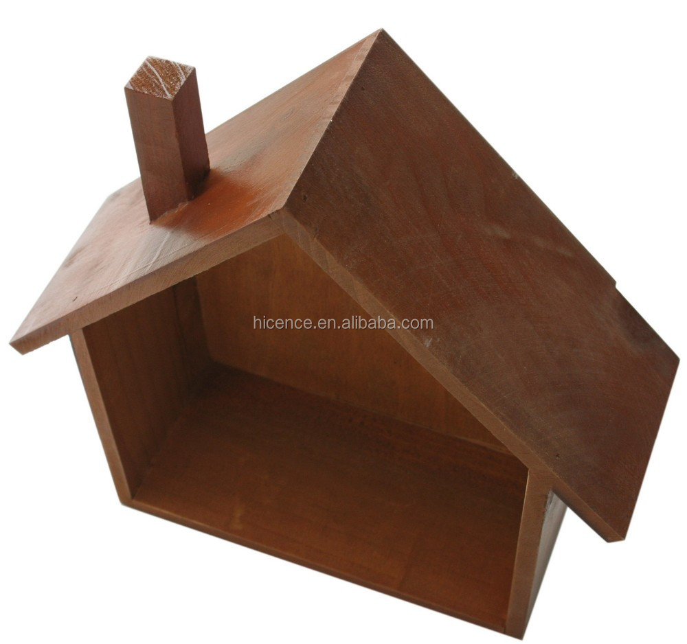 Zakka wooden house case for home decoration