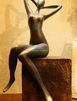 abstract art resin sexy nude lady figurine