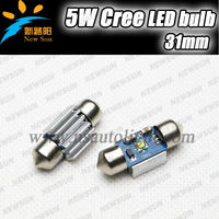 C5W universal car interior lamps canbus c ree high power 5w festoon light 31mm led bulb