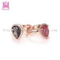 New arrival pear shape big stone ring designs for women