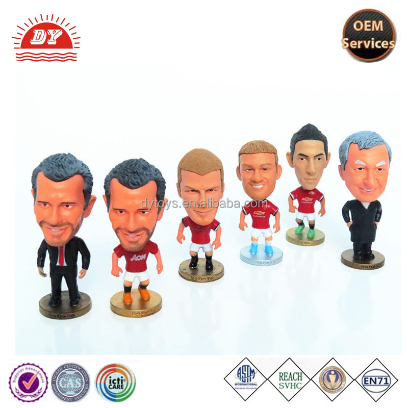Soccer action figure miniature soccer player figure