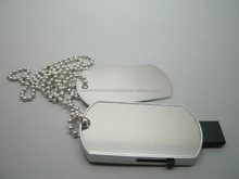 Real capacity dog tag necklace usb flash drive