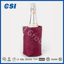Fashion style gel ice pack back bar bottle coolers with customized shape and logo