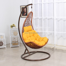 Unique egg shape outdoor single seat hanging garden swing ORW-1005A