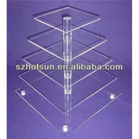 3 tier 4 tier 5 tier clear acrylic cookies display stand
