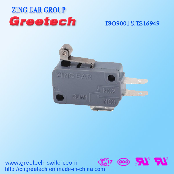 ZING EAR UL approved 5A 250VAC micro switch 5a 125/250vac